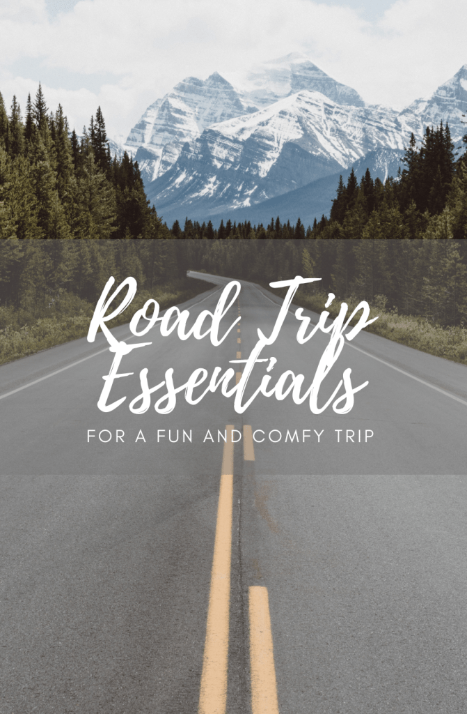 Road trip essentials pinterest graphic