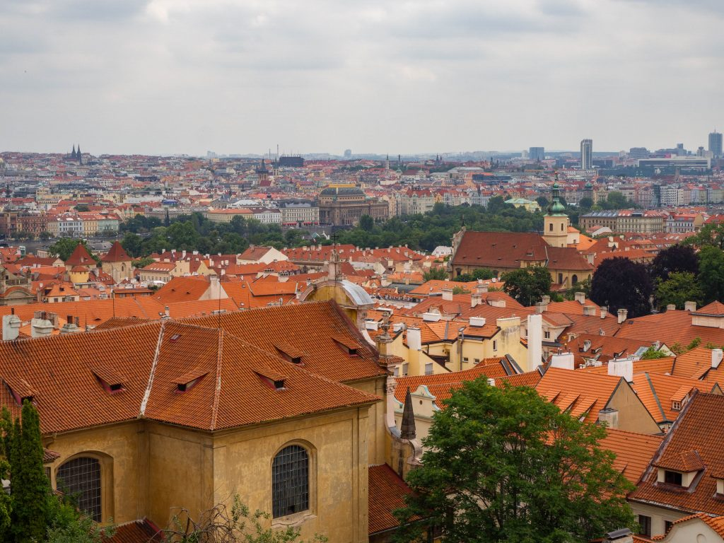 View overlooking Prague old town