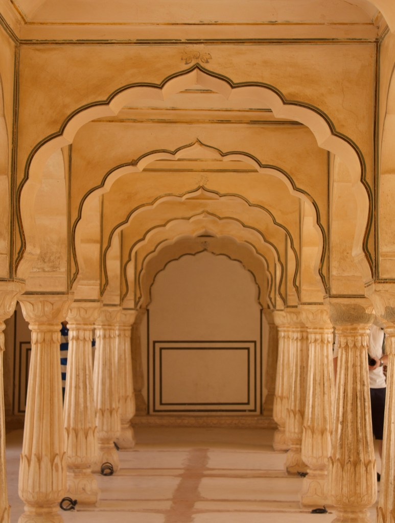 Amber fort Agra archways