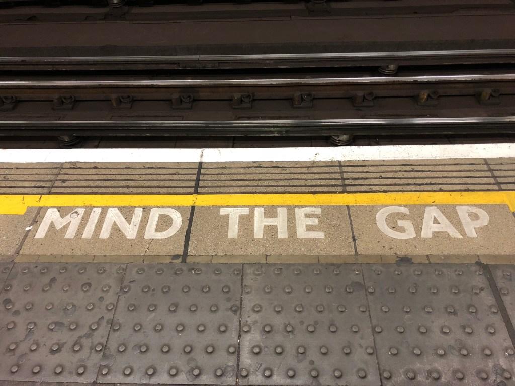 mind the gap london tube
