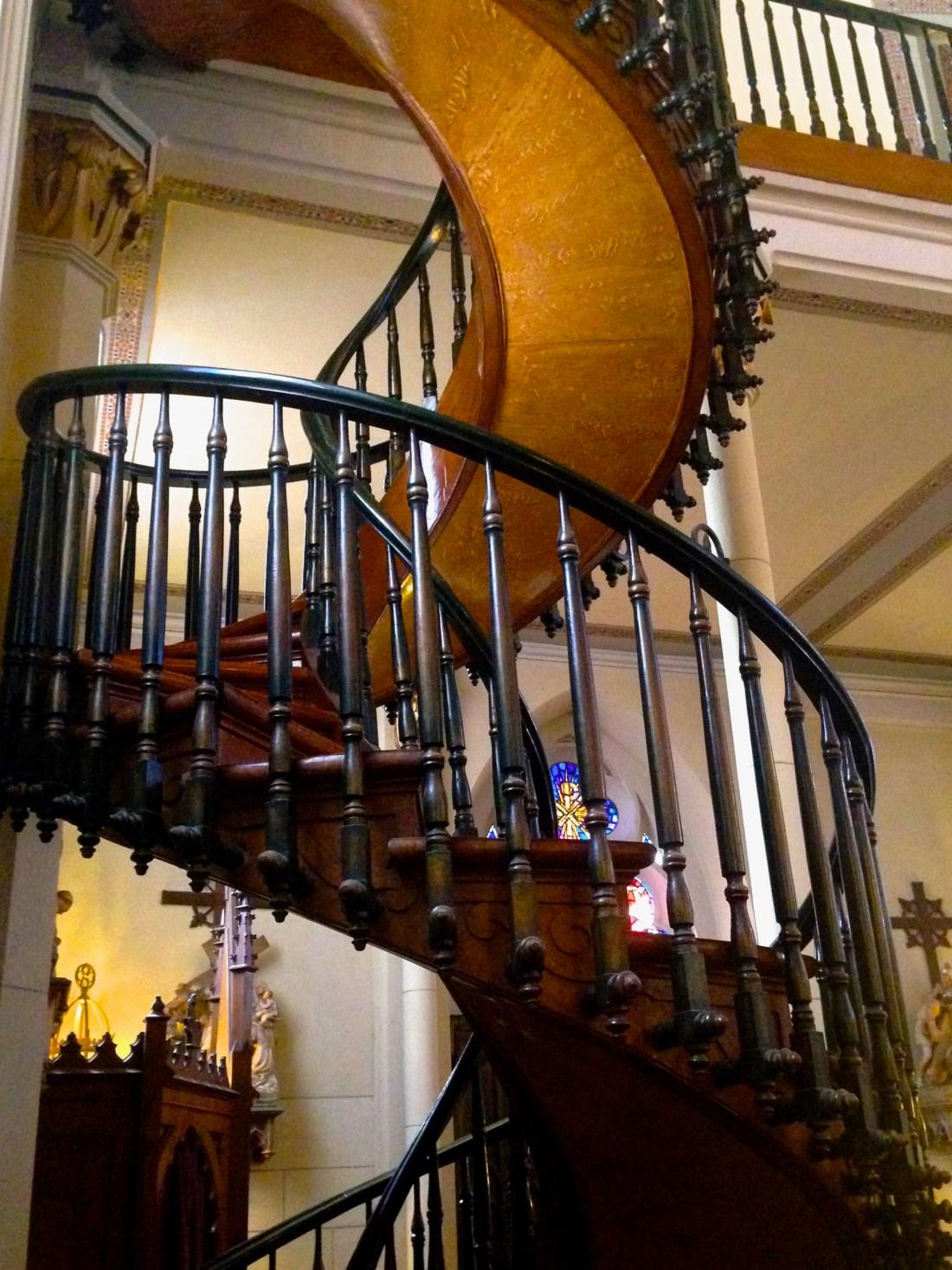 Loretto chapel staircase Santa Fe