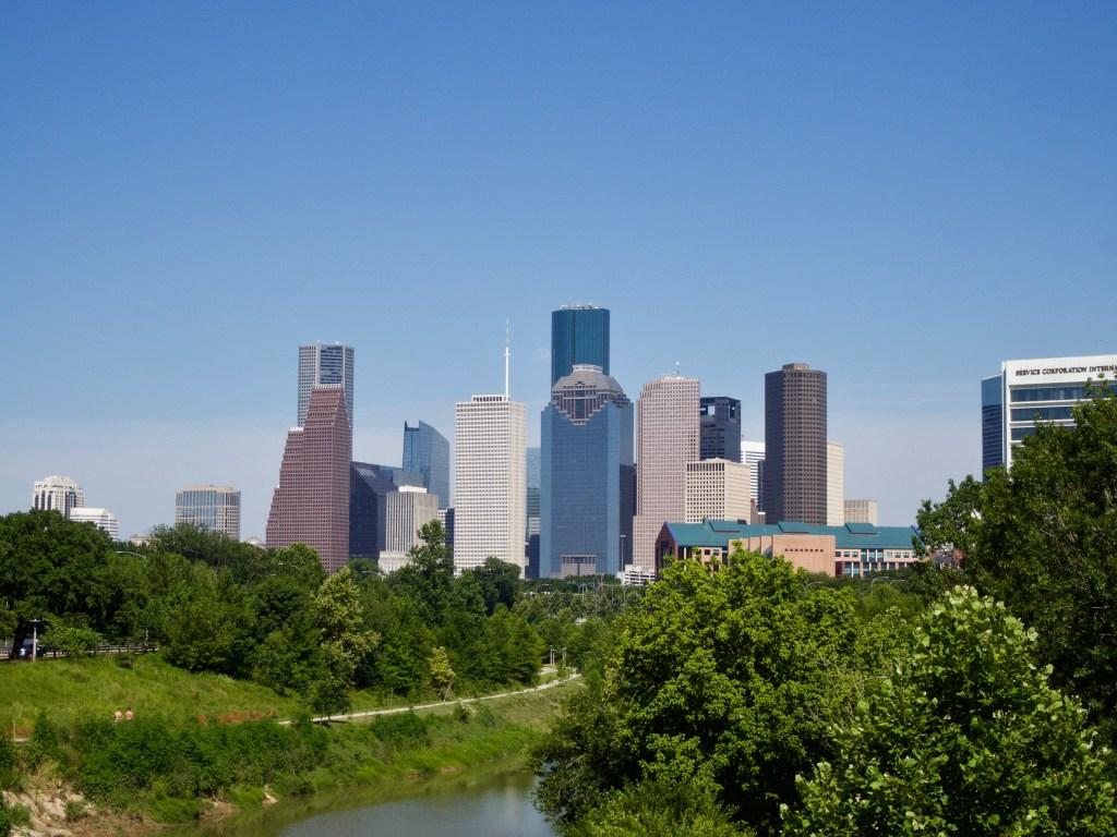 Houston skyline from Rosemont bridge