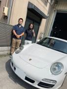 Porsche911_ヘッドライト研磨&プロテクションフィルム