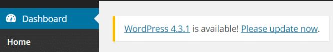 Mise à jour WordPress
