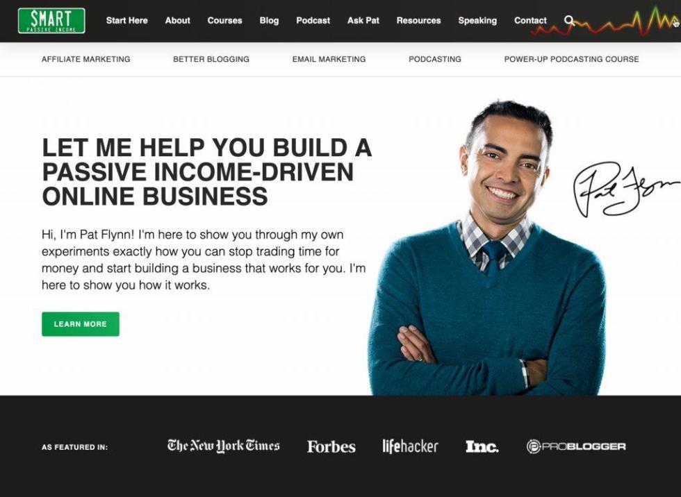 Example WordPress blog Pat Flynn