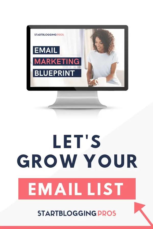 Email marketing course, list building course, grow you email list, email training, convertkit course, convertkit training, startbloggingpros.com