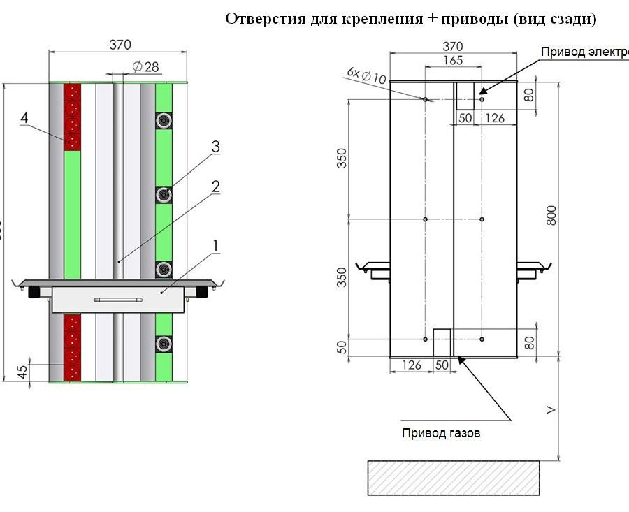 Консоль медицинского газоснабжения реанимационная - вертикальная ZS07