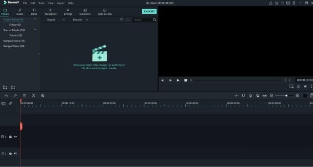 filmora software timeline