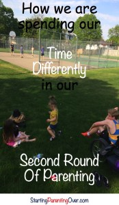 Wonder how you should be spending your time with your children? This is my evaluation of how I spent time raising our boys and what I'm doing differently as I parent our girls.