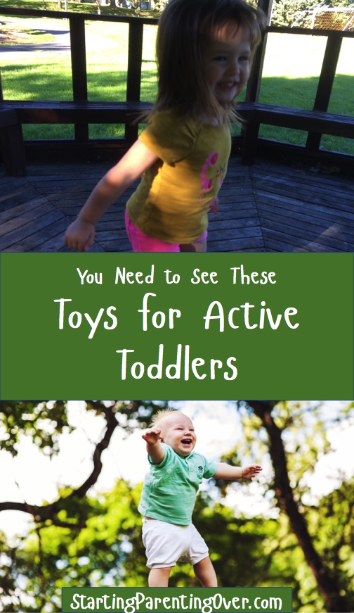 These toys for active toddlers will keep your little one moving in the right direction. They are great for developing coordination, balance, and gross motor skills while helping little ones burn that excess energy they all have.