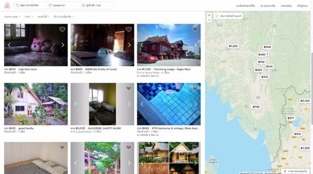 Airbnb Satun Map