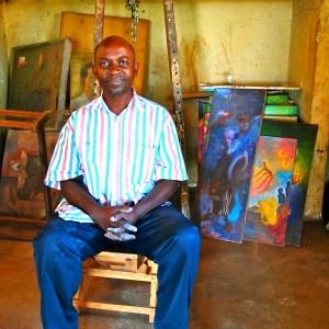 George Kyeyune at his home studio, 2010.