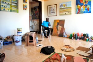 Donald Wasswa in his studio