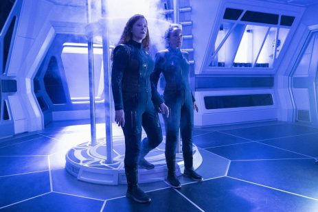 """""""Saints of Imperfection"""" -- Episode #205 -- Pictured (l-r): Mary Wiseman as Tilly; Bahia Watson as May of the CBS All Access series STAR TREK: DISCOVERY. Photo Cr: Michael Gibson/CBS ©2018 CBS Interactive, Inc. All Rights Reserved."""