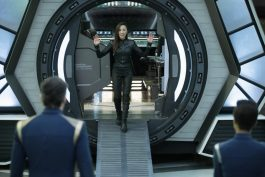 """""""Saints of Imperfection"""" -- Episode #205 -- Pictured: Michelle Yeoh as Philippa Georgiou of the CBS All Access series STAR TREK: DISCOVERY. Photo Cr: Michael Gibson/CBS ©2018 CBS Interactive, Inc. All Rights Reserved."""