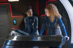 """Project Daedalus"" -- Ep#209 -- Pictured (l-r): Sonequa Martin-Green as Burnham; Mary Wiseman as Tilly of the CBS All Access series STAR TREK: DISCOVERY. Photo Cr: Michael Gibson/CBS ©2018 CBS Interactive, Inc. All Rights Reserved."