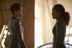 """Perpetual Infinity"" -- Ep#211 -- Pictured: Sonequa Martin-Green as Burnham; Sonja Sohn as Burnham's mom of the CBS All Access series STAR TREK: DISCOVERY. Photo Cr: Steve Wilkie/CBS ©2018 CBS Interactive, Inc. All Rights Reserved."