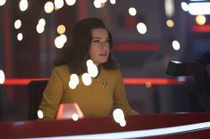 ÒSuch Sweet Sorrow, Part 2Ó -- Ep#214 -- Pictured: Rebecca Romijn as Number One of the CBS All Access series STAR TREK: DISCOVERY. Photo Cr: Russ Martin/CBS ©2018 CBS Interactive, Inc. All Rights Reserved.