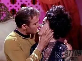 So, Kirk kisses Sylvia shapeshifter.