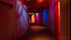 Corridor. Note Cuculoris Pattern on wall.
