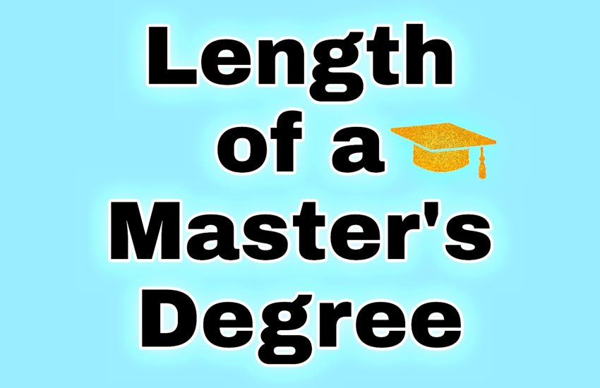 How long does it take to get a Master's degree