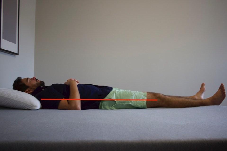 Back Sleeping 215 Pounds - Zoma Mattress Review