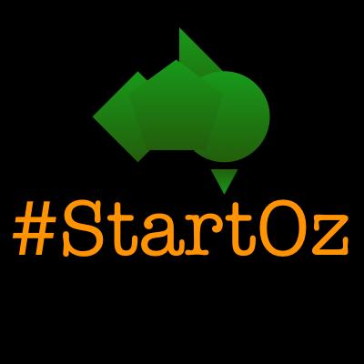 StartOz Logo w Map by StartSoc