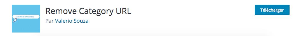 Plugin permettant de supprimer le prefix category de l'url de votre site WordPress.