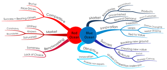 Red Ocean Strategy vs Blue Ocean Strategy Image