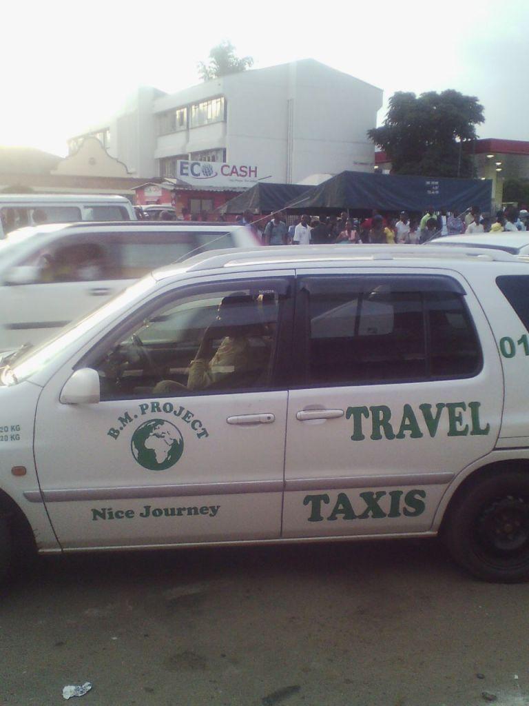 A taxi in Harare CBD