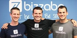 Bizzabo founders: Boaz Katz (left), Eran Ben-Shushan (center), Alon Alroy (right)