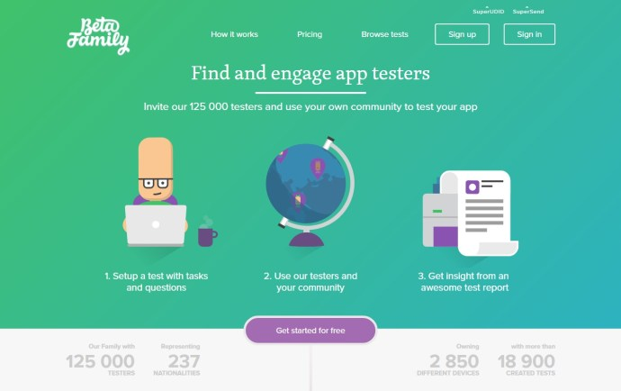 Beta Family - Find beta testers to your iOS or Android app. Desktop and mobile app beta testing sites