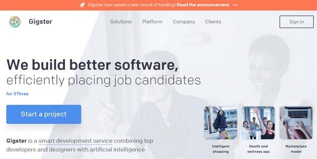 Gigster freelance developers website marketplace