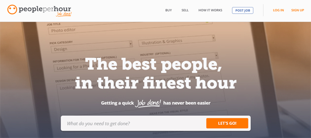 People per hour freelance website marketplace