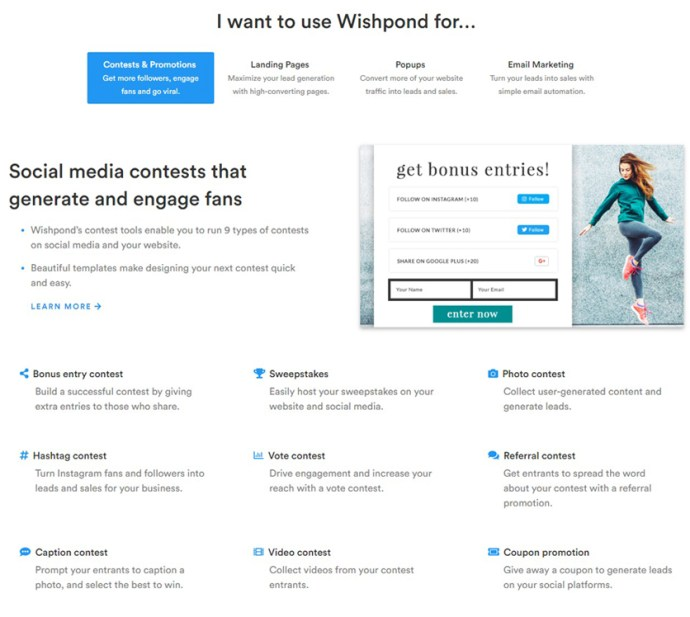 Wishpond screenshot - Viral marketing referral marketing - StartupDevKit