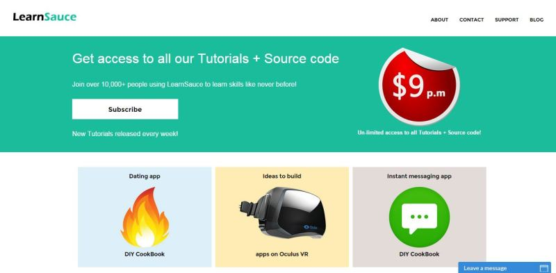 Learnsauce: Your Every Own Library For DIY Tutorials & Source Codes