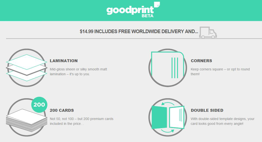 Get your fancy business card on goodprint goodprint is a uk based online printing company and has existed since 1992 with the track record of shipping 180 million business cards reheart Images