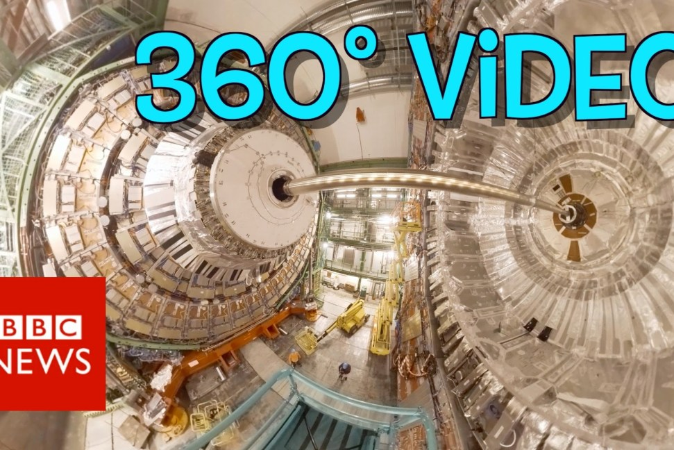 Inside the Large Hadron Collider, BBC does an amazing 360 video walkthrough