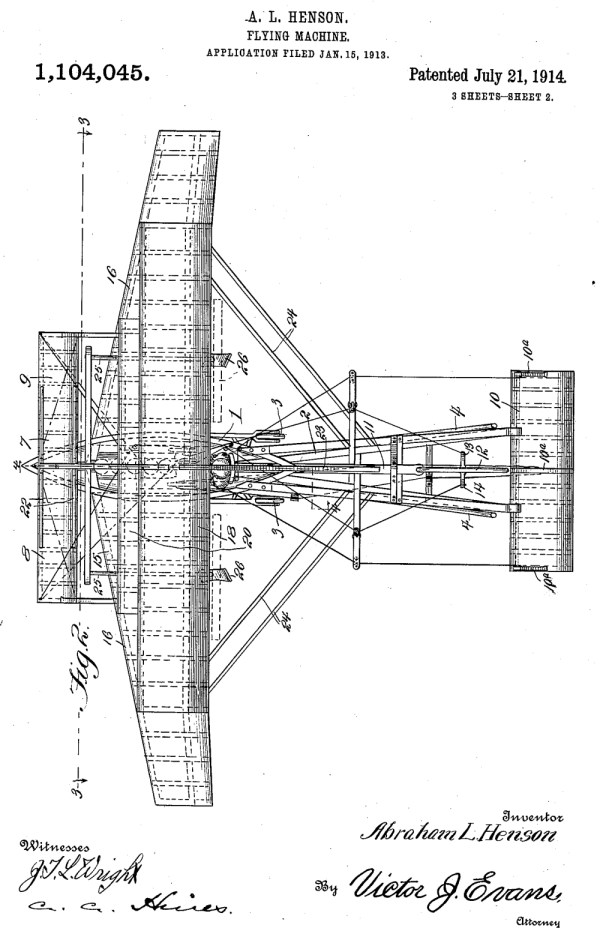 Abraham Lincoln Henson (Fort Collins) made some improvements to heavier-than-air type flying machines which received a patent in 1914.