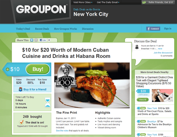 Groupon - Featured On StartUpLift