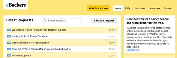 eBackers - Startup Featured on StartUpLift