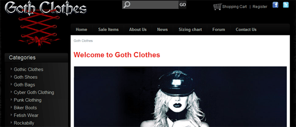 Goth Clothes - Startup Featured on StartUpLift