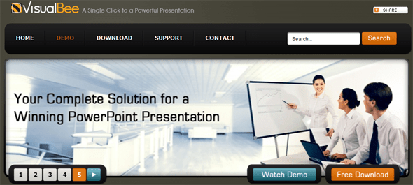 VisualBee PowerPoint plugin - Featured on StartUpLift