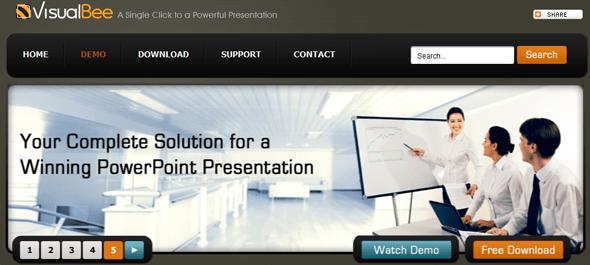 VisualBee PowerPoint plugin - Featured on StartUpLift