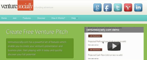 venturesocially.com - startup featured on StartUpLift