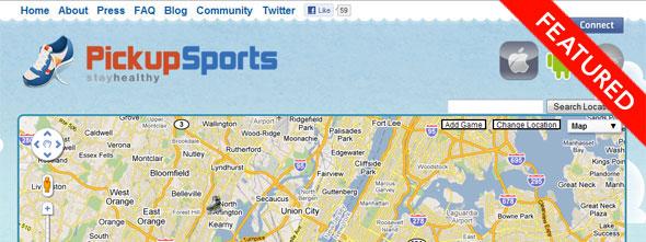 iPickupSports - Startup Featured on StartUpLift
