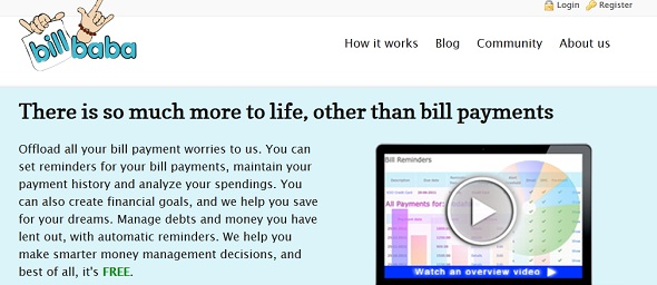 BillBaba - startup featured on StartUpLift for website feedback & usuability testing