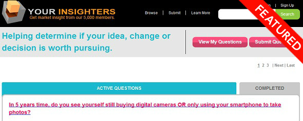 Your Insighters - StartUp featured on StartUpLift for website feedback