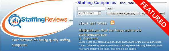 StaffingReviews - StartUp featured on StartUpLift for website feedback and Startup Feedback