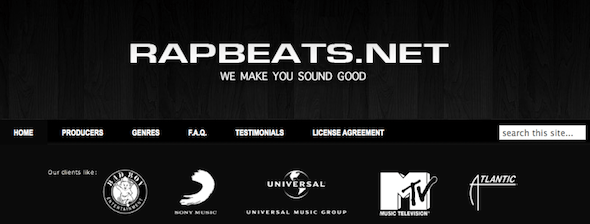 RapBeats.net - startup featured on startuplift for website feedback and startup feedback